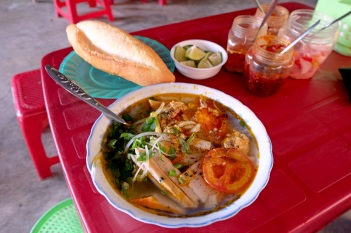 Banh Canh Chua Ca from the stall at Tran Phu street