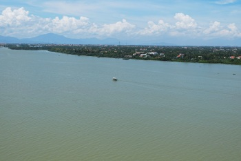View of Hoi An from Cau Cua Dai, the bridge over the Thu Bon river